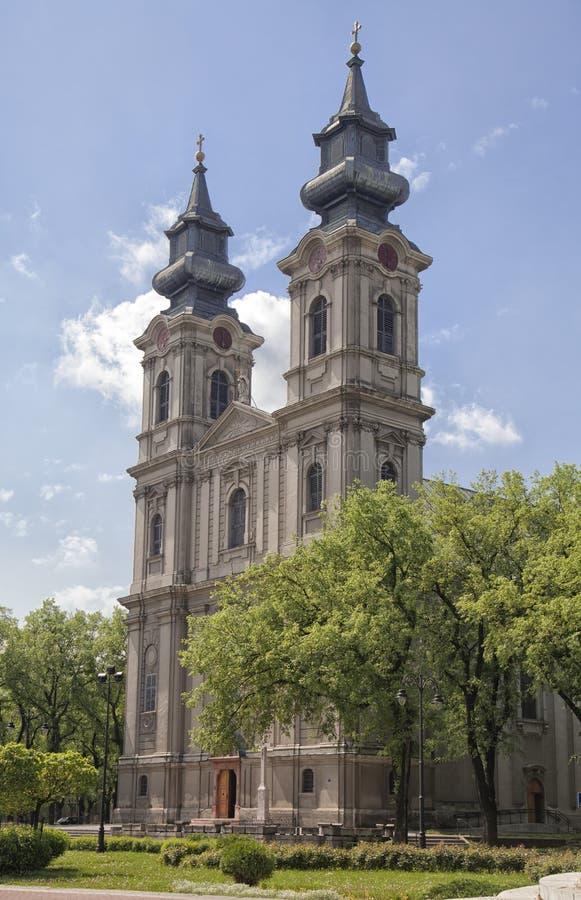 Domkyrka av St Teresa Avila i Subotica royaltyfri fotografi