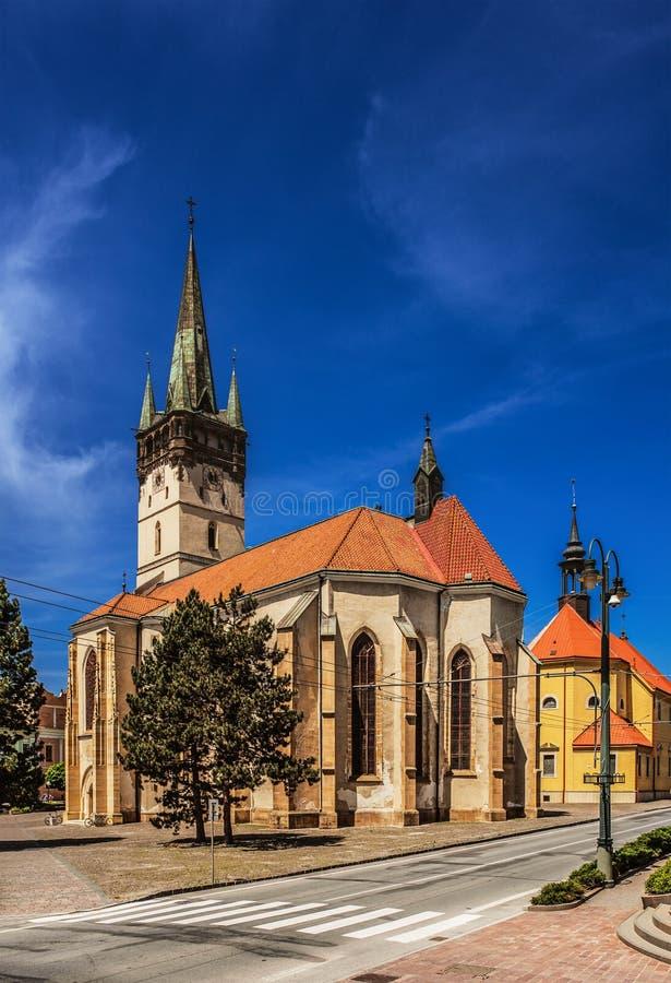 Domkyrka av StNicholas i Presov arkivbild