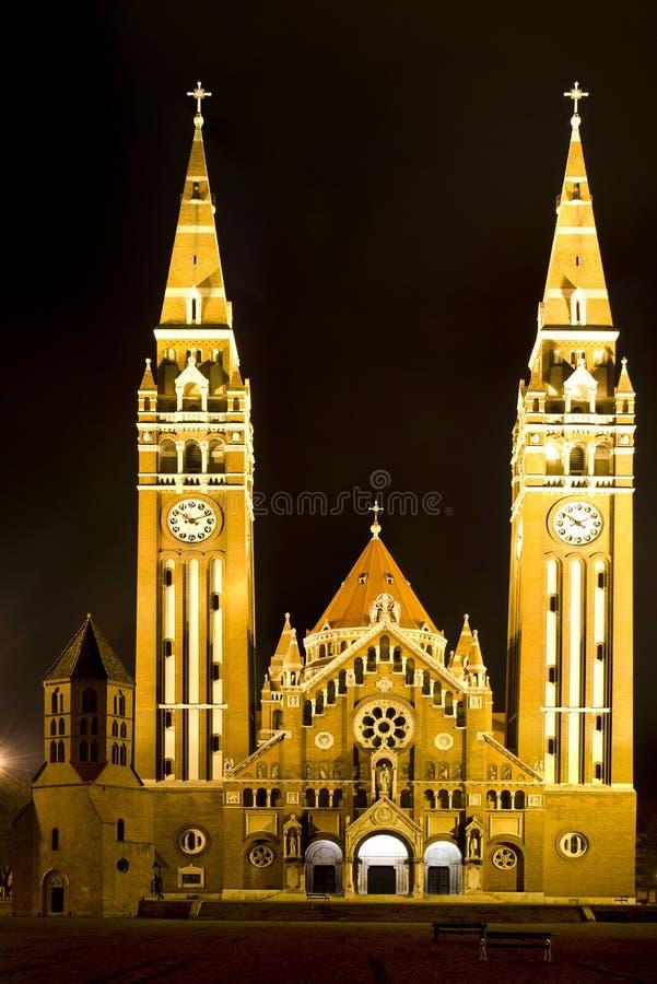 Domkyrka av Szeged, Ungern royaltyfri bild