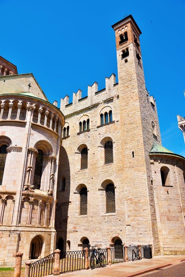 Domkyrka av Trento Italien fotografering för bildbyråer