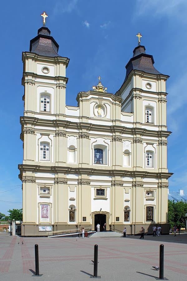 Domkyrka av uppståndelsen i Ivano-Frankivsk, Ukraina royaltyfri foto