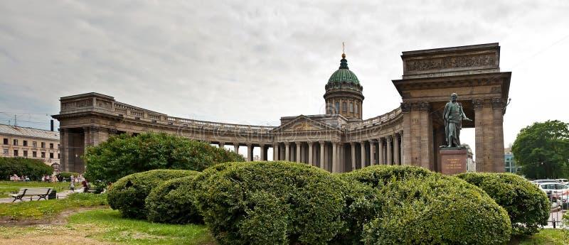 Domkyrka av vår dam av Kazan i St Petersburg arkivbilder