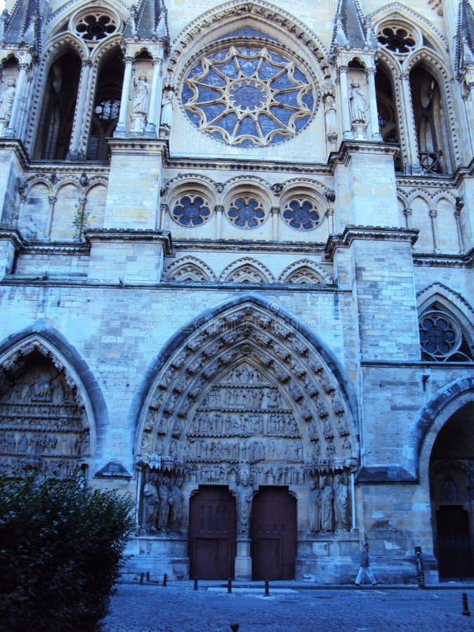 Domkyrka av vår dam av Reims, Notre Dame arkivbilder