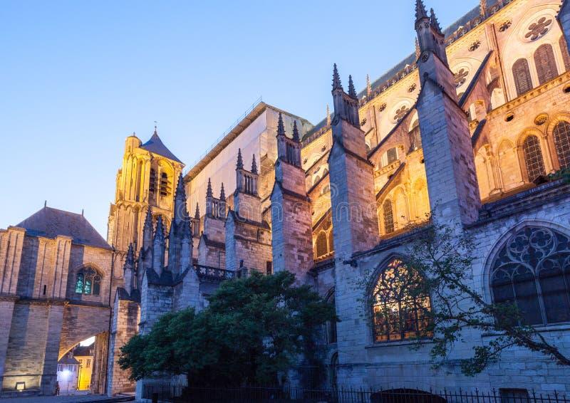Domkyrka Bourges Frankrike royaltyfria foton