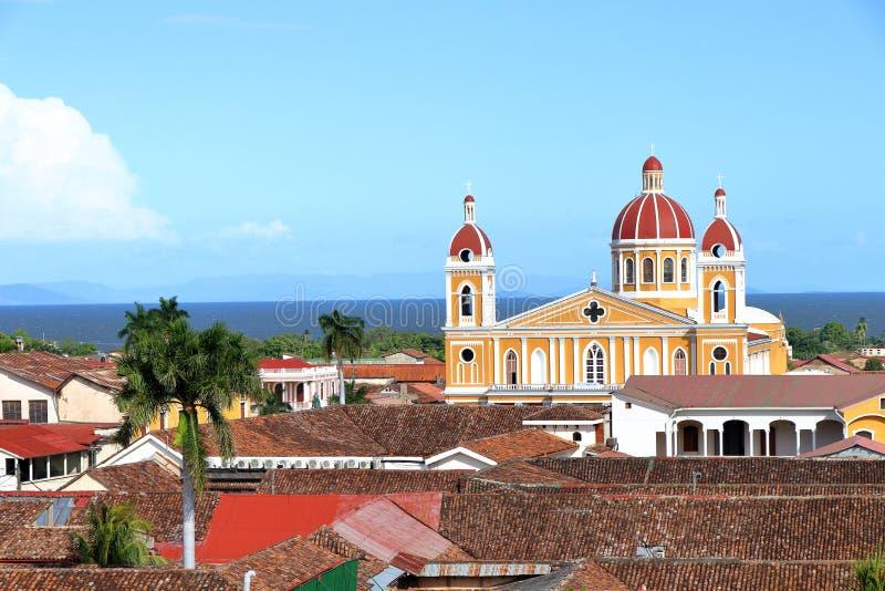 Domkyrka de Granada, Nicaragua royaltyfri fotografi