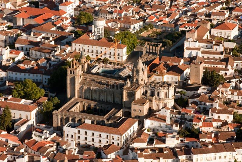 domkyrka evora portugal royaltyfri bild