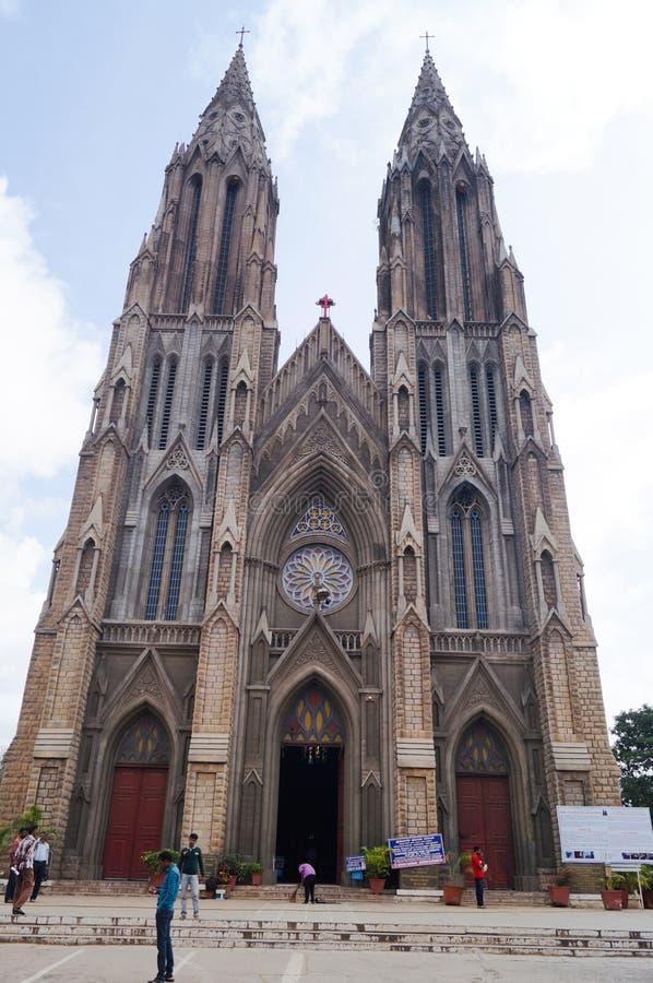 Domkyrka för ` s för St Philomena, Mysore royaltyfri foto