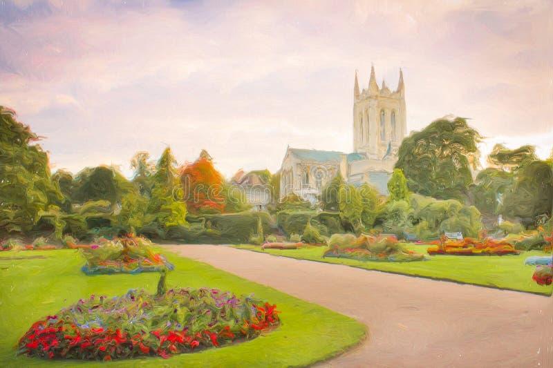 Domkyrka för St Edmundsbury royaltyfri illustrationer