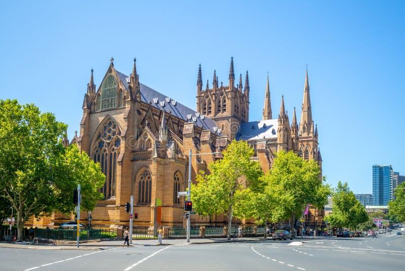 Domkyrka för St Mary ` s i Sydney, Australien royaltyfri fotografi