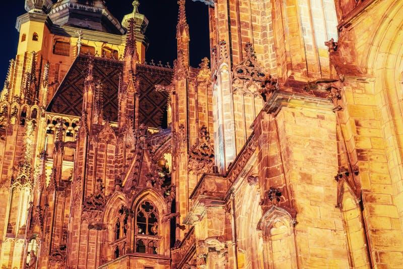 Domkyrka för St Vitus i Prague royaltyfri foto