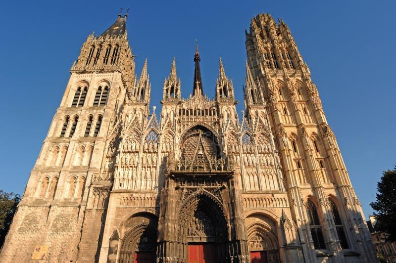 domkyrka france gotiska rouen arkivbilder