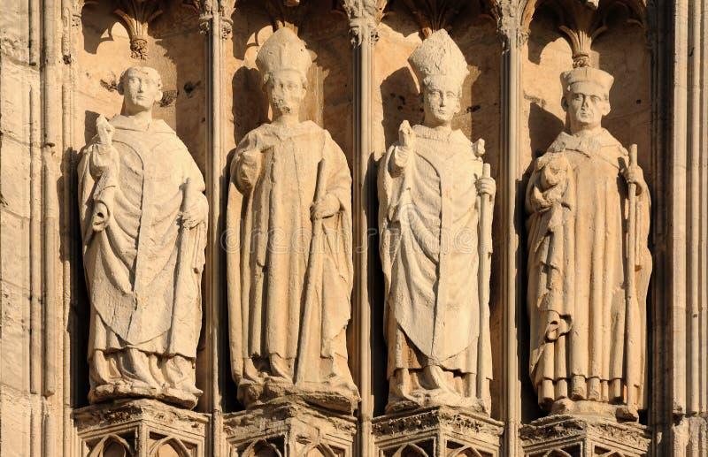 domkyrka france gotiska rouen royaltyfria foton