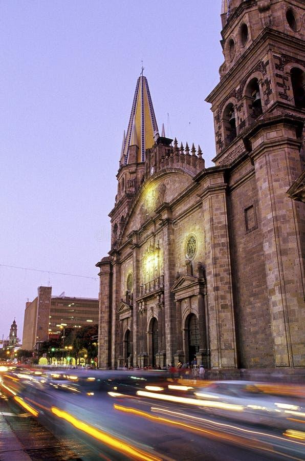domkyrka guadalajara mexico arkivbilder