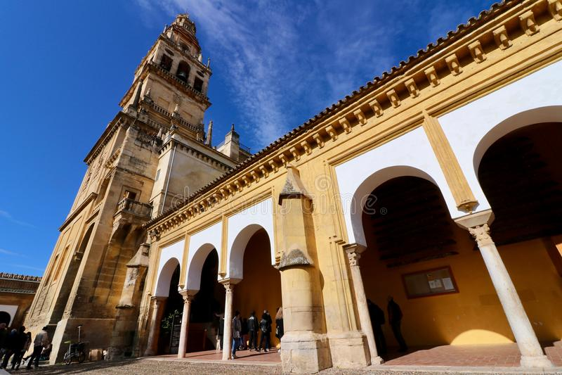 Domkyrka i Cordoba, Andalusia, Spanien royaltyfria foton