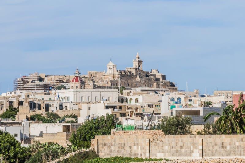 Domkyrka i Rabat (Victoria), Gozo ö, Malta. arkivfoto