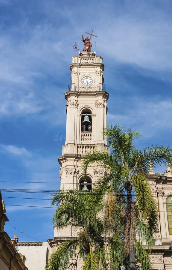 Domkyrka i San Salvador de Jujuy, Argentina fotografering för bildbyråer