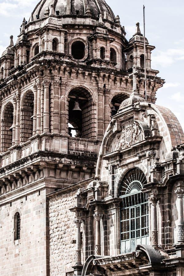 Domkyrka i staden av Cuzco, Peru royaltyfria bilder