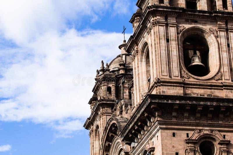 Domkyrka i staden av Cuzco, Peru arkivfoto