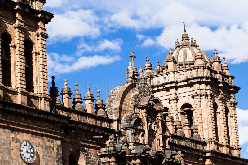 Domkyrka i staden av Cuzco, Peru arkivfoton