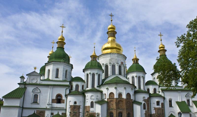domkyrka kiev sofiyiskiy ukraine royaltyfria foton