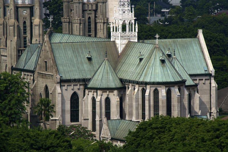 domkyrka kyrkliga jakarta arkivbilder