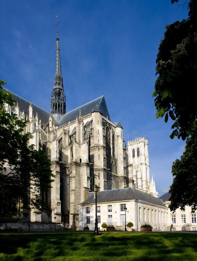 Domkyrka Notre Dame, Amiens, Picardy, Frankrike royaltyfri foto