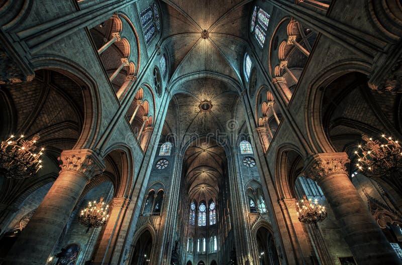 Domkyrka Notre Dame i Paris royaltyfria bilder