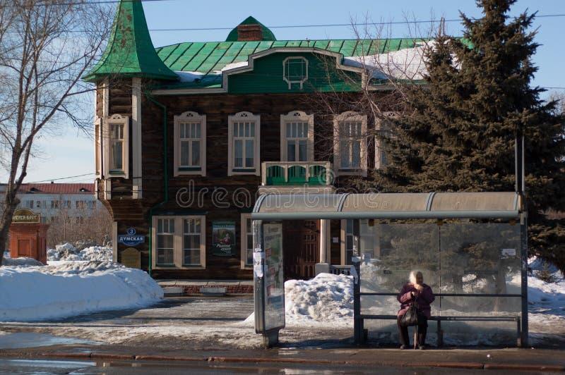 domkyrka omsk uspensky ortodoxa russia arkivfoto