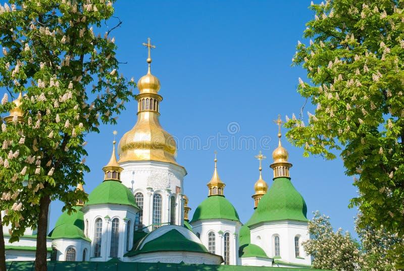 Domkyrka Sanktt Sofii i Kiev arkivbilder
