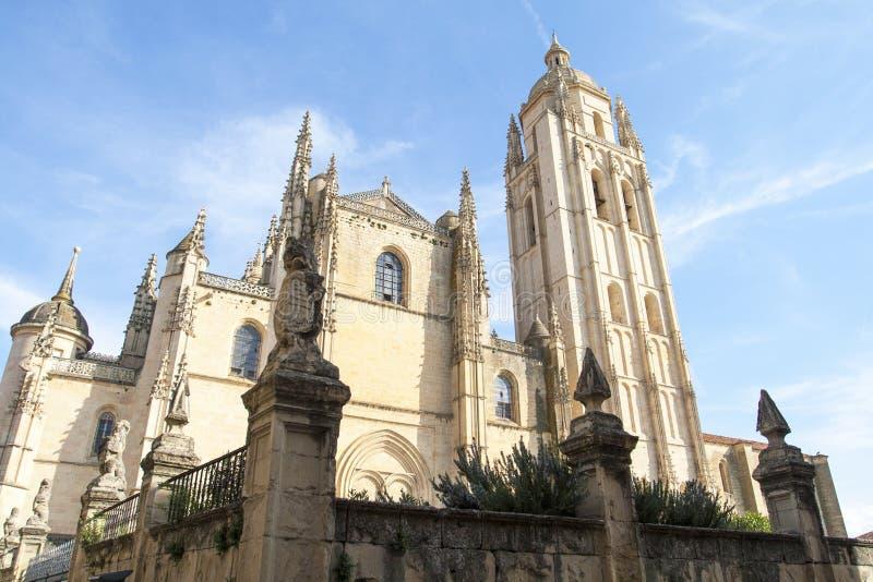 domkyrka segovia Catedral de Santa Maria de Segovia, Castilla y Leon, Spanien royaltyfria foton
