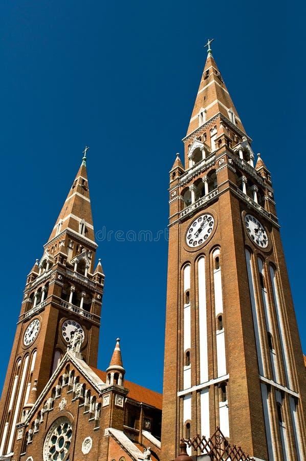 domkyrka szeged torn fotografering för bildbyråer