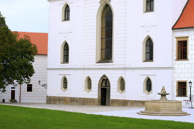 Domkyrka Trebic arkivbilder