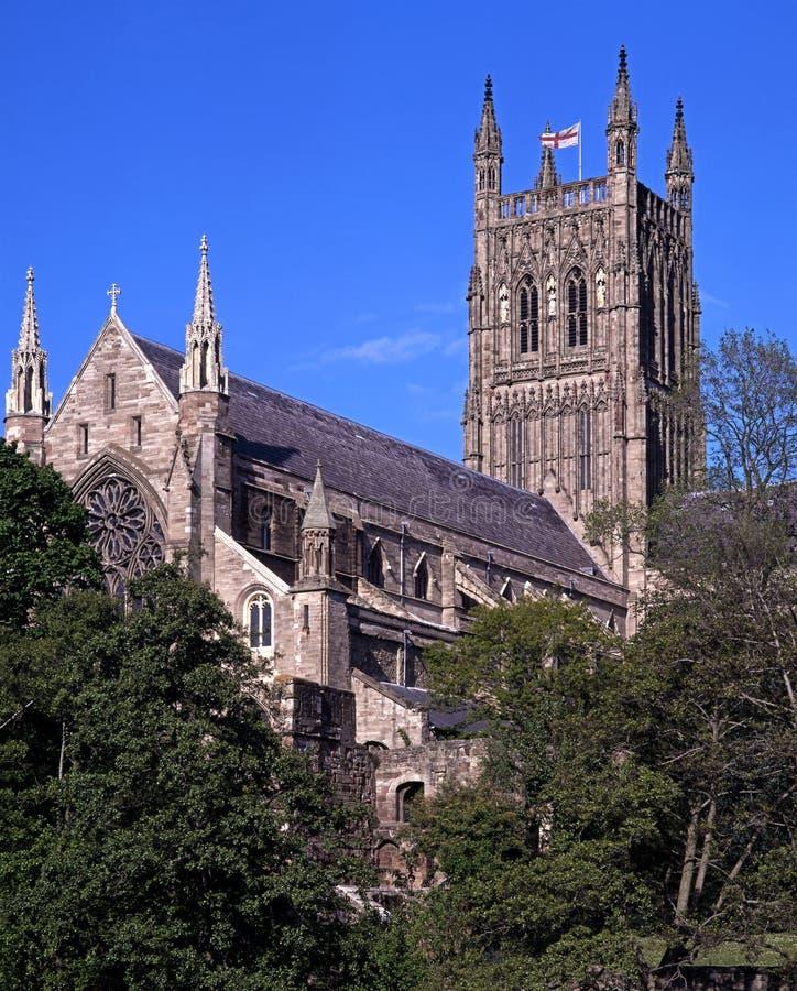 Domkyrka Worcester, UK. arkivbilder