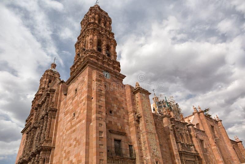 Domkyrkabyggnad i Zacatecas Mexico royaltyfria bilder