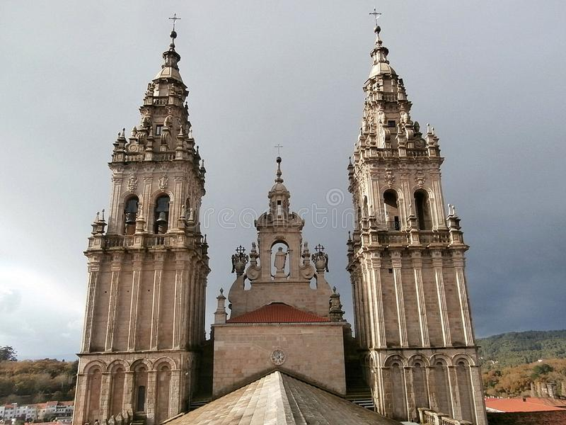 domkyrkacompostela de santiago Galicia Northwes Spanien royaltyfri fotografi