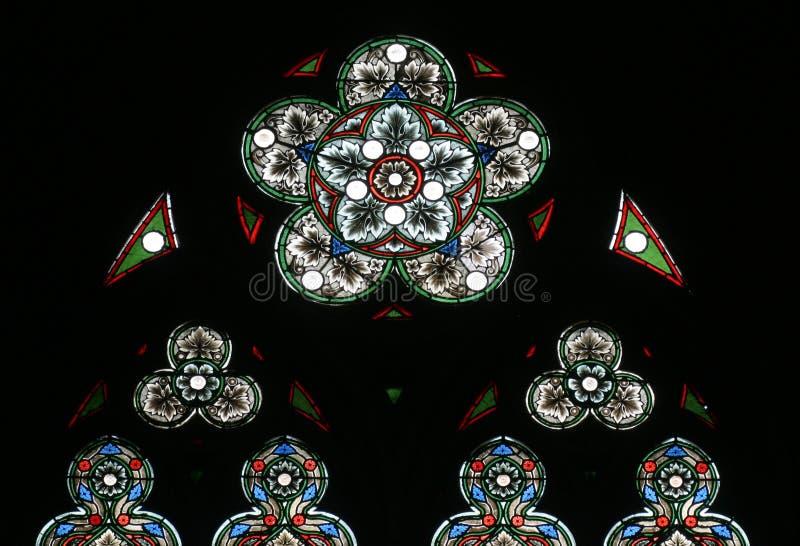 domkyrkaexponeringsglas nedfläckada zagreb royaltyfri fotografi