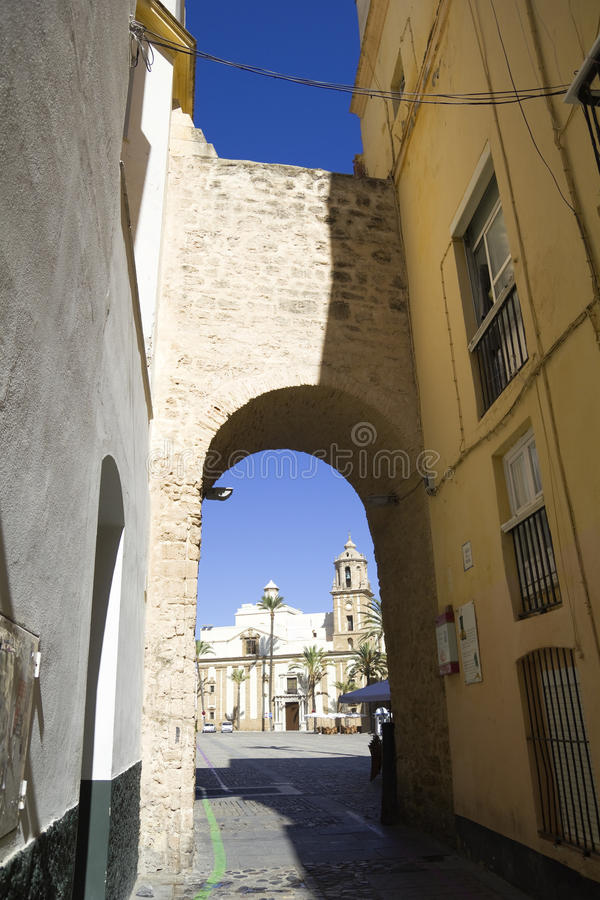 Download Domkyrkafyrkant, Cadiz arkivfoto. Bild av berömdt, nationellt - 27281500