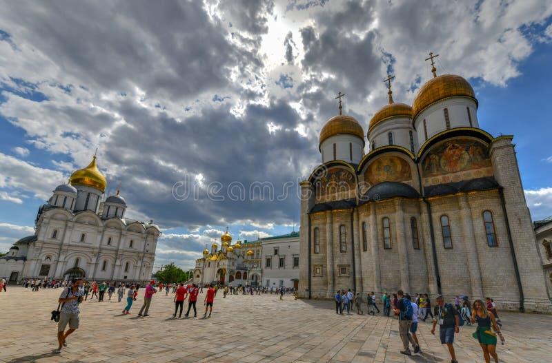 Domkyrkafyrkant - Moskva, Ryssland fotografering för bildbyråer