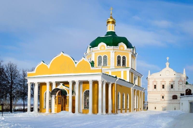 Domkyrkakyrka av Kristi födelsen av Kristus i den Ryazan staden, en av de huvudsakliga templen av den Ryazan metropolisen fotografering för bildbyråer