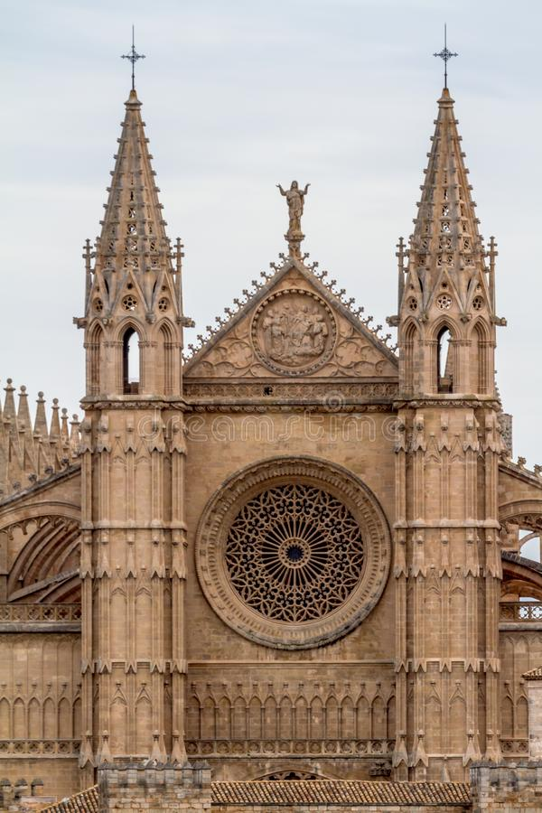 DomkyrkaLa Seu Palma de Mallorca arkivbild