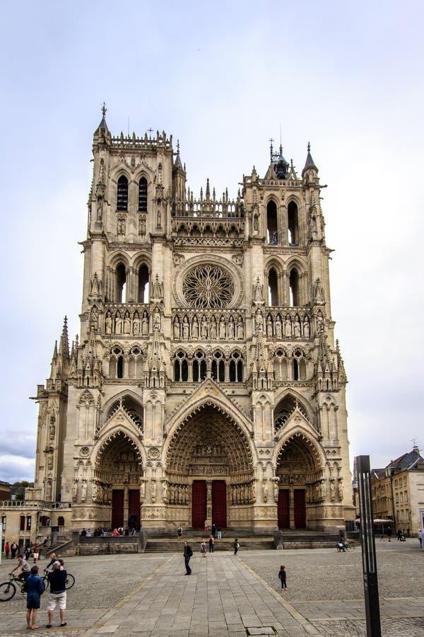 Domkyrkan av Amiens, Frankrike royaltyfria foton