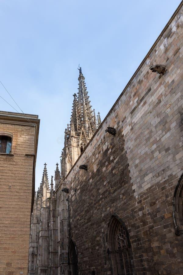 Domkyrkan av Barcelona arkivfoton