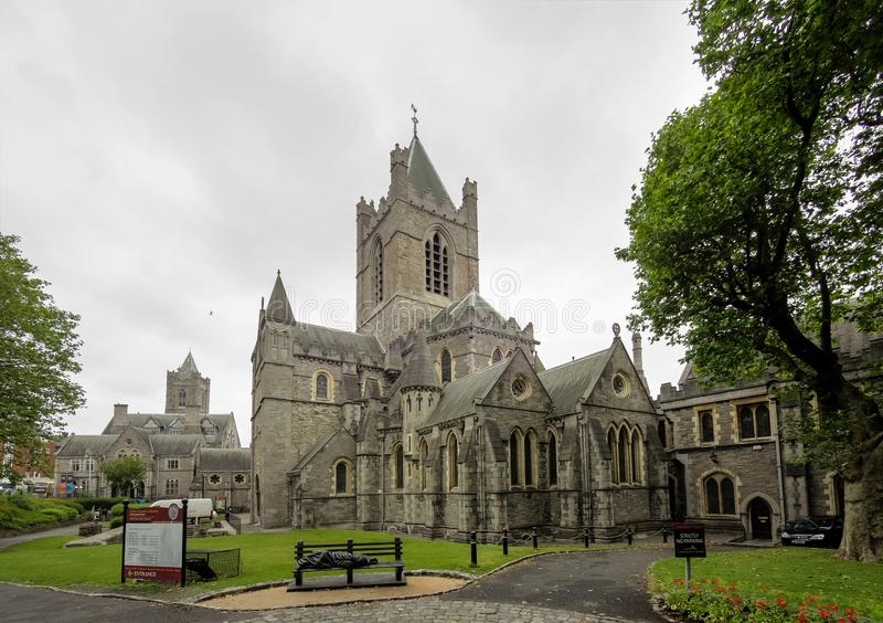 Domkyrkan av den heliga Treenighet, Kristuskyrka i Dublin, Irland arkivbild