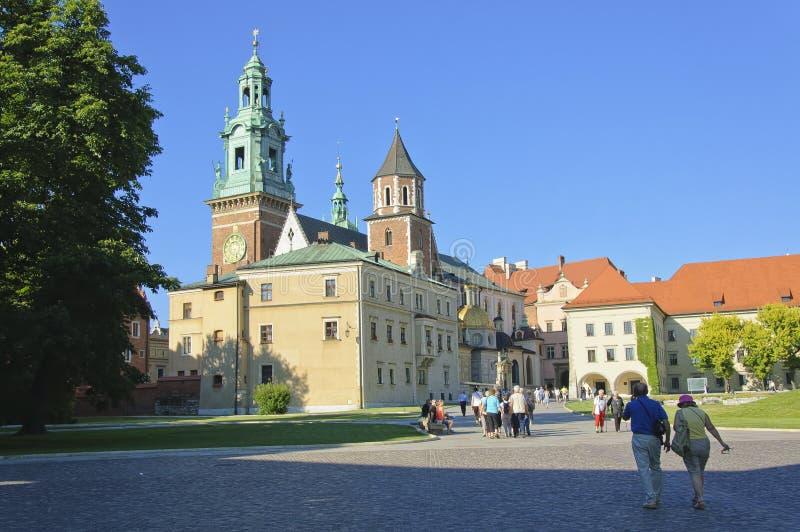 Domkyrkan av den Wawel slotten arkivfoto