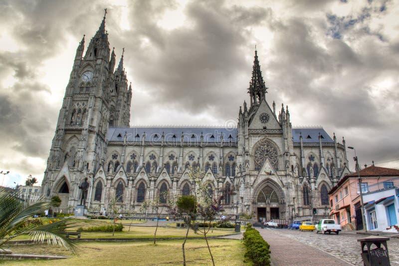Domkyrkan av Quito royaltyfri fotografi