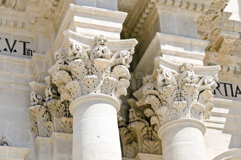 Domkyrkan av Syracuse royaltyfri fotografi