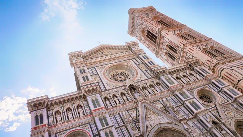 Domkyrkan och den Brunelleschi kupolen, Florence Italy arkivfoto