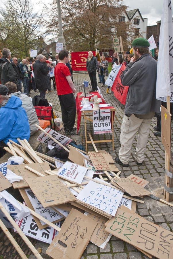 domkyrkan travde exeter placards staplar upp arkivfoto