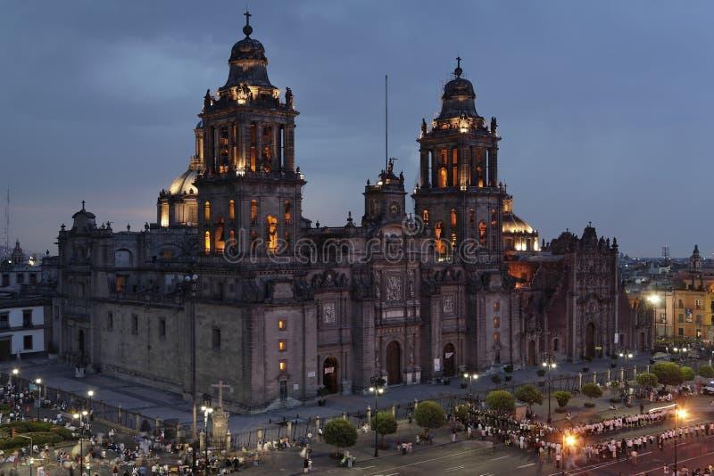 domkyrkastad mexico arkivbild