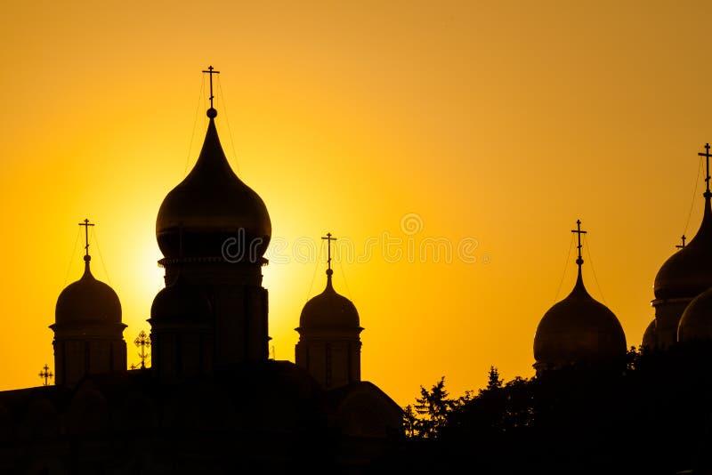 domkyrkor kremlin moscow arkivfoton